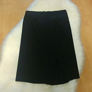 Bebe Black Skirt with Back Peplum
